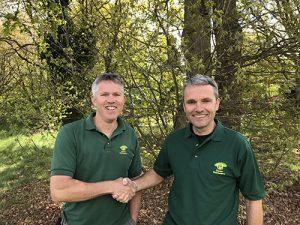 Neil Collis with Warren Emsden, two of Ed's Gardeners