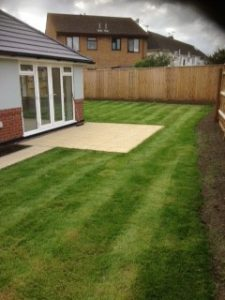 First Lawn mowing service delivered to this garden in 2016