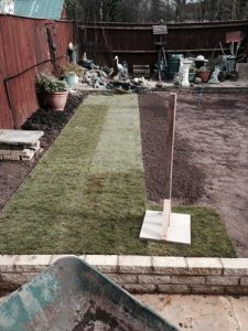 Turfing a new Lawn with Ed's Garden Maintenance