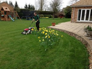 Richard Weightman from Ed's Garden Maintenance Mowing Lawns